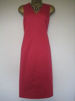 Marella (Max Mara) Ruby? Red Cotton Dress And Jacket Wedding Races? Size 14 • 39.99£