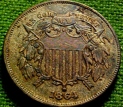 $ CDN127.38 • Buy 1864 Two Cent Piece 2c ~ NICELY TONED HIGH GRADE COIN W/ SOLID DETAILS ~ 60PS