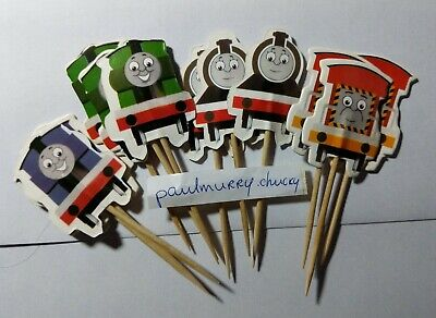 12 X Thomas And Friends Cake Picks,Cupcake Toppers Kids Birthday Trains  • 2.75£