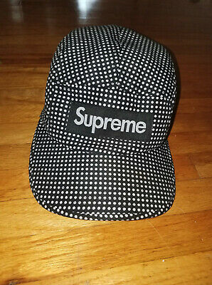 $ CDN99.99 • Buy RARE Vintage 2011 New Without Tags Supreme Black Polka Dot Camp Cap Hat 5 Panel