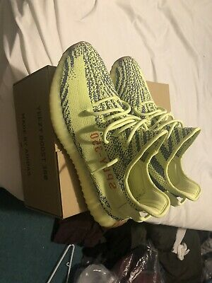 $ CDN374.94 • Buy Adidas Yeezy 350 V2 Semi Frozen Yellow US Mens Size 12 100% Authenthic