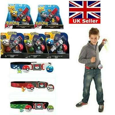 Collect Clip N GO Carry PokeBall Toy Cross Belt Set Charmander Figure Kids Gift • 11.89£
