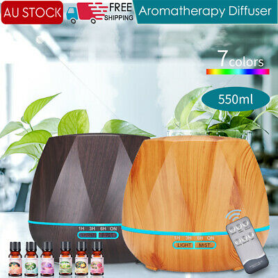 AU25.64 • Buy Aroma Aromatherapy Diffuser LED Essential Oil Ultrasonic Air Humidifier Purifier