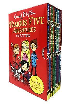 Famous Five Adventures Collection By Enid Blyton Classic Stories 9 Books Box Set • 19.99£