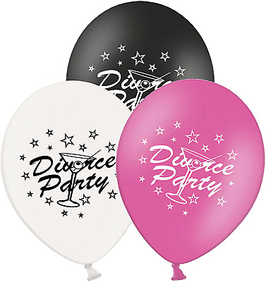 Party Decor Divorce Party - 12  Printed Latex Balloons Pack Of 5 - Assorted - - • 5.51£