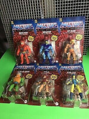 $139.99 • Buy 💥Masters Of The Universe💥 6 Figure Set MOTU Retro Play 2020 UNPUNCHED  He-Man