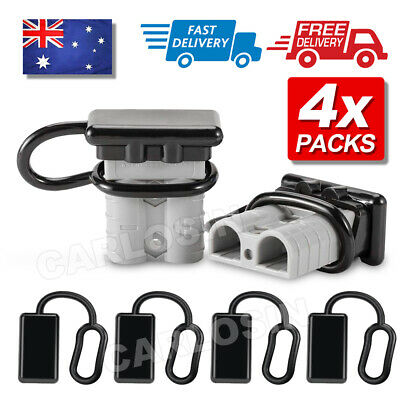 AU5.90 • Buy 4x Dust Cap For Anderson Plug Cover Style Connectors 50AMP Battery Caravn 12-24V