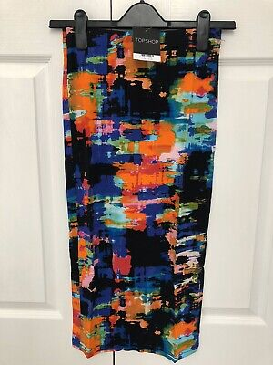 £5 • Buy BNWT Topshop Tropical Abstract Tube Skirt Size 8