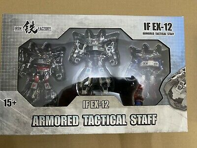Transformers Iron Factory IF EX-12 Armoured Tactical Staff (Prowl, Smokescreen + • 154.99£