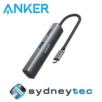 AU135.45 • Buy New Anker PowerExpand+ 5-in-1 USB Ethernet Hub - Gray Metal