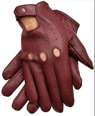 $31.99 • Buy Men's Driving Gloves Genuine Leather Perfect Fit Premium Quality Soft Leather