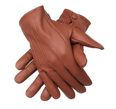 $36.99 • Buy Genuine Leather Unlined Driving Gloves With Snaps Perfect Fit Premium Soft
