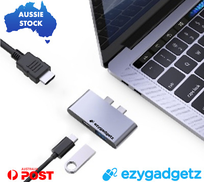 AU30.64 • Buy USB C Hub 3 In 1 Compact | 4k HDMI USB 3.0 PD Charge 100w For Macbook Pro & Air
