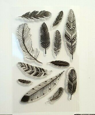 Clear Stamps - Feathers In Different Designs And Sizes - Very Pretty • 3.99£