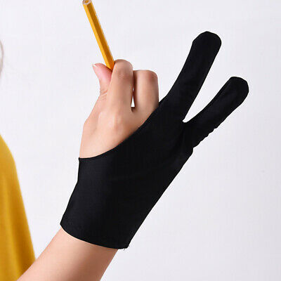 AU11.99 • Buy Professional S/M/L Size Graphic Tablet Artist Sketch Drawing Two Finger Gloves