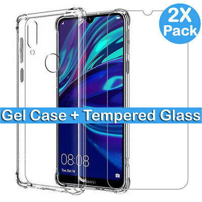 For Huawei Mate P20 30 Lite Pro P Smart Case / Full Cover Glass Screen Protector • 1.99£