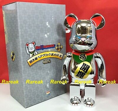 $542.99 • Buy Medicom Toys Bearbrick 2017 Skytree 400% Silver Plated Lucky Cat Neko Be@rbrick