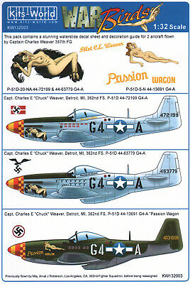 £11.39 • Buy KW132003 Kits World Decals 1:32 North-American P-51D Mustang  'Passion Wagon'