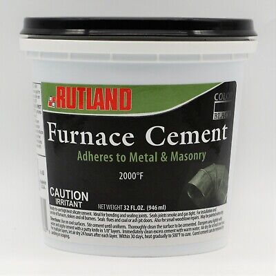 Rutland Furnace Cement 65 Install Service Furnaces Stokers Oil Burners 32 Oz • 7.03£