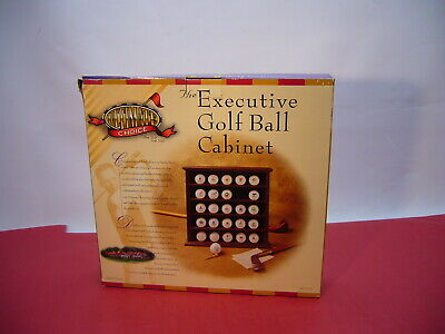 Ultimate Choice Executive Golf Ball Cabinet 25 Balls Display New Open Box • 17.37£