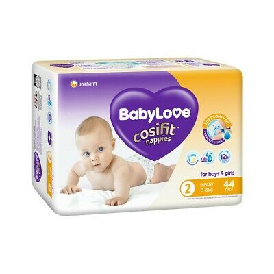 AU14 • Buy BabyLove Cosifit Bulk Nappies Infant 44 Pack