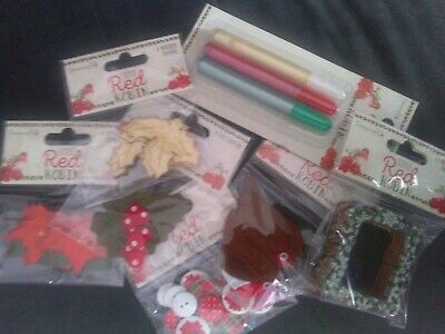 £3.50 • Buy Dovecraft ~ Little Red Robin ~ Embellishment Packs ~ 1 Choice Supplied