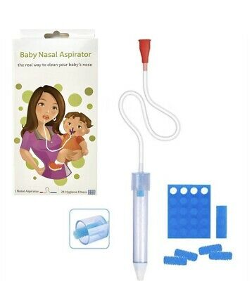 AU19.99 • Buy Dolson Baby Nasal Aspirator With 24 Hygiene Filters Nose Cleaner The Snot Sucker