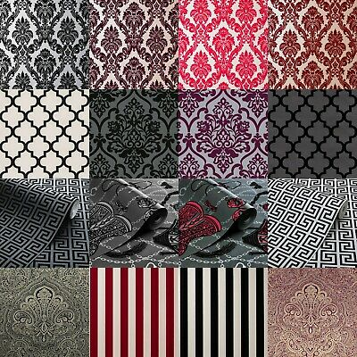 Exclusive Casablanca Luxury Velvet Flock Damask Wallpapers All Colours • 29.99£