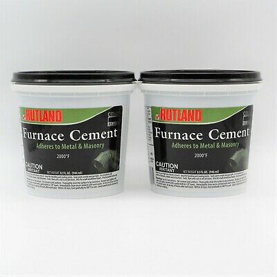 Rutland Furnace Cement 65 Install Service Furnaces Stokers Burners 32oz Lot 2 • 21.49£