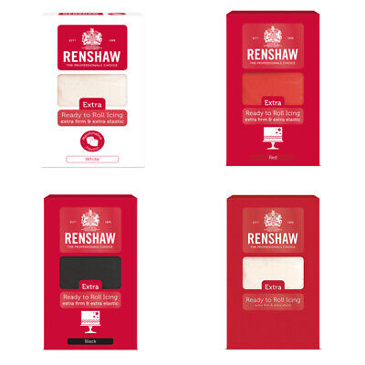 Renshaw Extra 1Kg Ready To Roll Sugarpaste Icing Extra Firm And Extra Elastic • 8.49£