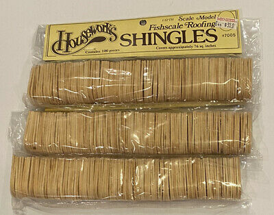 $14.99 • Buy Houseworks Fishscale Roofing Shingles Lot Of 3 300 Dollhouse 1/12th Wooden 7005