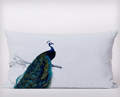 Peacock Bird  - Long Cushion Covers Pillow Cases Home Decor Or Inner • 10£