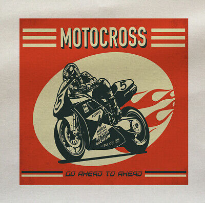 Motorcross Motorcycle Printed On Fabric Panel Make A Cushion Upholstery Craft • 8.80£