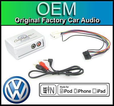 £39.99 • Buy VW Caddy AUX In Lead Car Stereo IPod IPhone MP3 Player Adapter Connection Kit