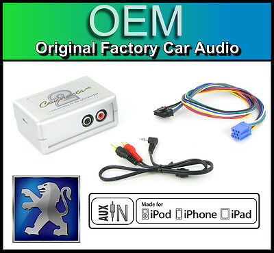 Peugeot 307 AUX In Lead Car Stereo IPod IPhone Player Adapter Connection Kit • 39.99£