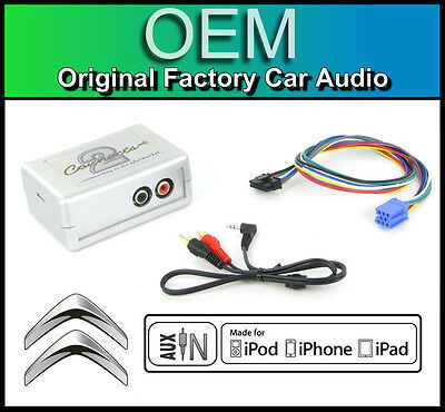 Citroen C2 AUX In Lead Car Stereo IPod IPhone Player Adapter Connection Kit • 39.99£