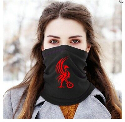 Liverpool Black Red Football Scarf Neck Warmer Snood Christmas Gift Face Cover • 9.96£