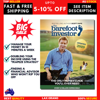 AU23.10 • Buy The Barefoot Investor Book 2019 Scott Pape The Only Money Guide You'll Ever Need
