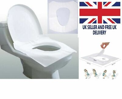 £10.99 • Buy Disposable Clean Toilet Seat Covers Flushable Cover Hygienic Protection UK STOCK