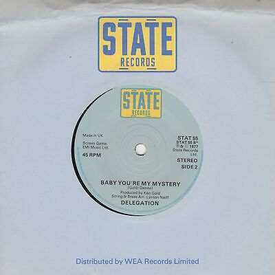 Delegation Baby You're My Mystery State STAT 55 Soul Northern Motown • 10£