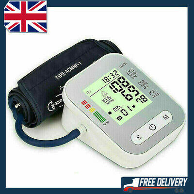 UK Automatic Blood Pressure Monitor Upper Arm Digital BP Machine With Large Cuff • 15.85£