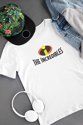 Disney Pixar's The Incredibles Superhero Cosplay Fancy Dress Movie Logo T-Shirt • 8.97£