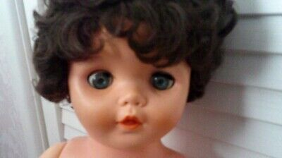 Vintage Doll In Hard Plastic, Possibly A 1970's Rosebud Or Roddy.   • 25£