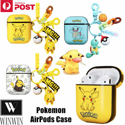AU8.95 • Buy For Apple Airpods 1 2 Silicon Gel Cover Case Shockproof Skin Pokemon Pendant TPU