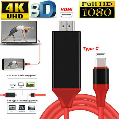 $9.66 • Buy USB-C Type C To HDMI HDTV TV Cable Adapter For Samsung Galaxy S10 Note 9 MacBook