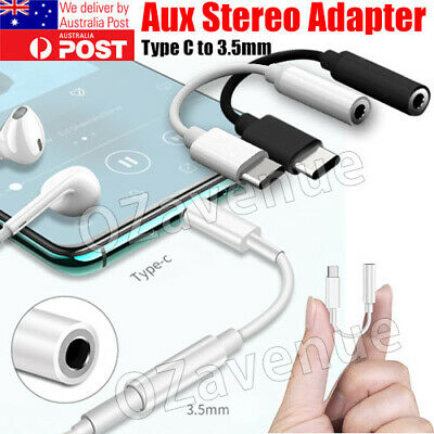 AU5.95 • Buy For Samsung Google USB Type C To 3.5mm Headphone Audio Aux Stereo Cable Adapter