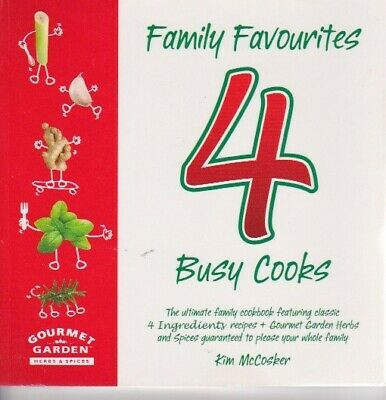 AU16.49 • Buy FAMILY FAVOURITES 4 BUSY COOKS COOKBOOK - KIM McCOSKER 4 INGREDIENTS ALMOST NEW