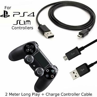 AU5.04 • Buy 2m Long Charger Charging Lead Cable For PlayStation PS4 Slim Wireless Controller