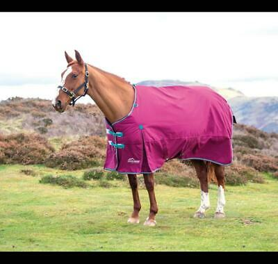 Shires Highlander 300g Heavyweight Horse/Pony Turnout Rug In Raspberry • 68.39£