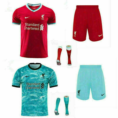 20-21 Football Club Full Kit Kids Boys Youth Soccer Jersey Strip Training Suits • 21.99£